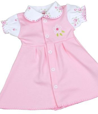 BabyPrem Preemie Baby Clothes Girls Pink Vintage Print Dress Dresses 1.5-7.5lb