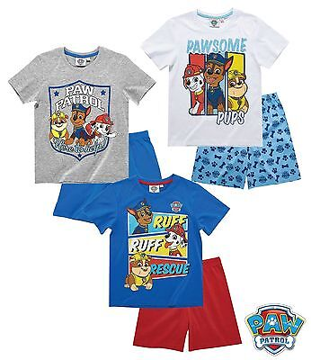 Paw Patrol Pyjama Shorty Kinder Pyjama kurz Hunde 98 104 110 116 128 - Shorty Kinder Pyjama