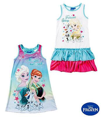 nigin Sommer Kleid Gr. 98 / 116 / 128 / 140 LIZENZ NEU (Disney Frozen Kleid)