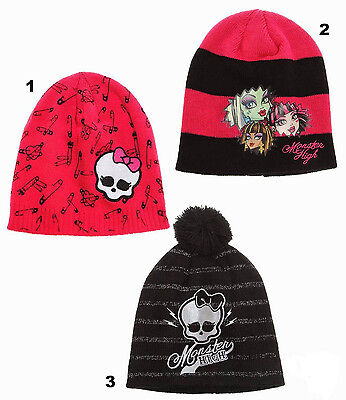 Monster High Mädchen Kinder Winter Mütze in 6 tollen Farben und 2 Größen ()
