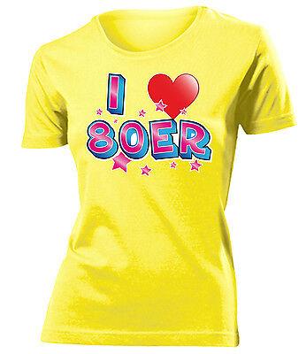 Karnevalskostüm -I LOVE 80ER T-Shirt Damen - Weibliche Übergröße Kostüm