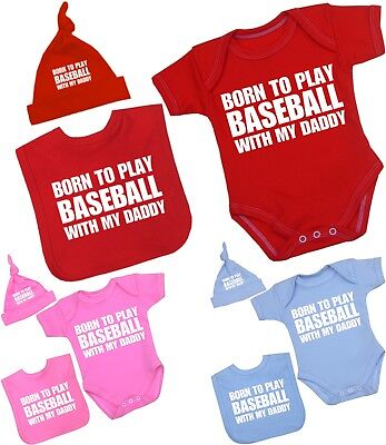 babyprem vêtements de bébé garçons filles Baseball Daddy combinaison chapeau