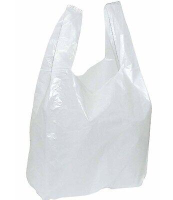 1000 x Bags 30+ 20x60cm Plastic Bag White Grocery Bags Shopping Bag