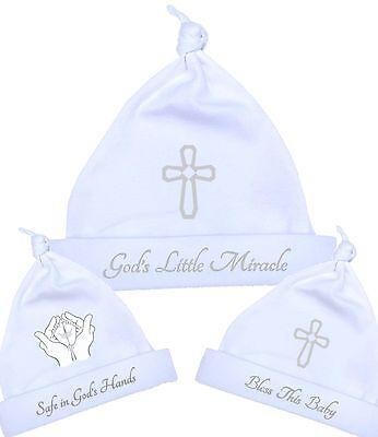 babyprem vêtements de bébé garçons filles blanc argent CHAPEAUX baptême