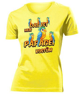 Karnevals- Faschingskostüm - DAS IST MEIN PAPAGEI KOSTÜM T-Shirt Damen - Papagei Kostüm