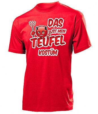 Karnevalskostüm - Das ist mein Teufel Kostüm T-Shirt Herren - Mein Herr Kostüm