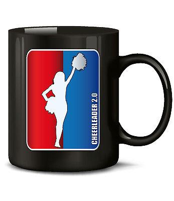 Cheerleader 2.0 Kaffee Spruch lustig witzig Tasse Becher Sport Football Zubehör