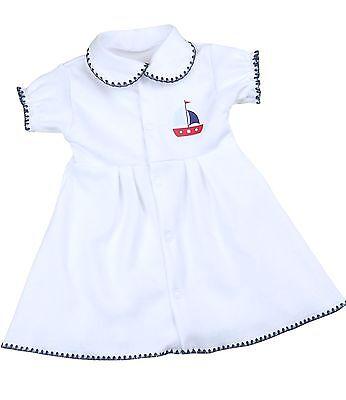 Robe BabyPrem prématurés Preemie Vêtements de bébé Filles Blanc Marine 32 - 50cm