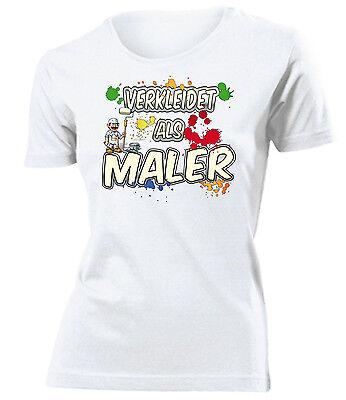 Karnevalskostüm - Faschingskostüm - VERKLEIDET ALS MALER T-Shirt Damen S-XXL