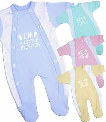 BabyPrem Baby Clothes Preemie Micro Boys Girls Sleeper Footie One - Piece