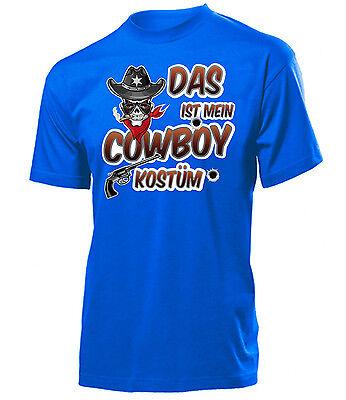 Karnevalskostüm - Das ist mein Cowboy Kostüm T-Shirt Herren - Herren T Shirt Cowboy Kostüm