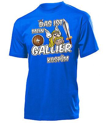 Karnevals Faschingskostüm - DAS IST MEIN GALLIER KOSTÜM T-Shirt Herren - Herren Gladiator Kostüm Tshirt