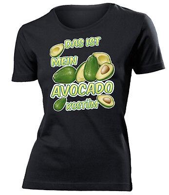 Das ist mein Avocado Kostüm T-Shirt Damen S - XXL - Golebros Fasching - Weibliche Übergröße Kostüm
