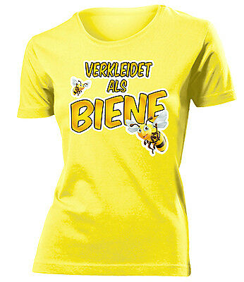 Karnevalskostüm -VERKLEIDET ALS BIENE T-Shirt Damen S-XXL ()