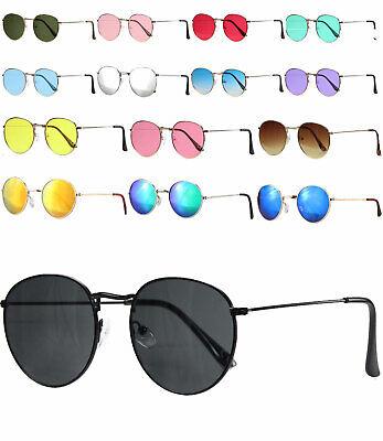 caripe Damen Herren Retro Vintage Sonnenbrille Metall Lennon runde Gläser -9040