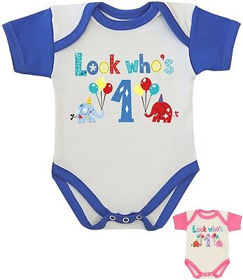 BabyPrem First 1st Birthday Top Bodysuit Romper Presents Gifts for 1 year - Present For 1 Year Old
