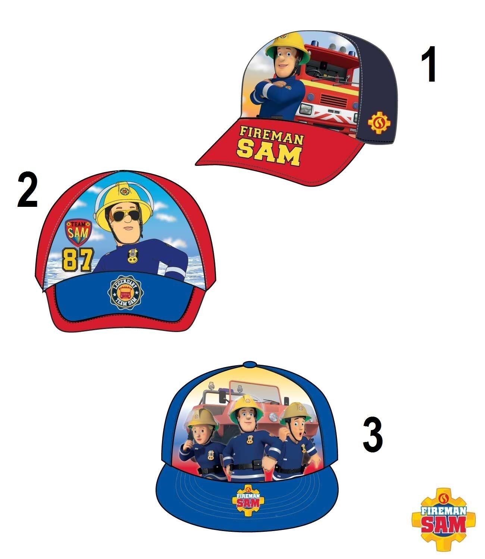 Disney Feuerwehrmann Sam Cap Basecap Kappe Mütze Kopfbedeckung Größe 52 - 54 NEU