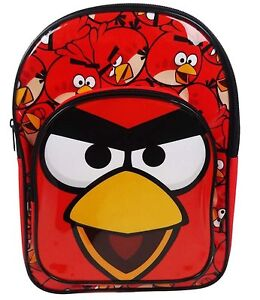 Angry Birds Arch Character Boys Backpack School Bag Rucksack Red Bag Free P&P