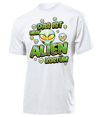 OSTÜM T-Shirt Herren S-XXL (Herren Alien-kostüm)