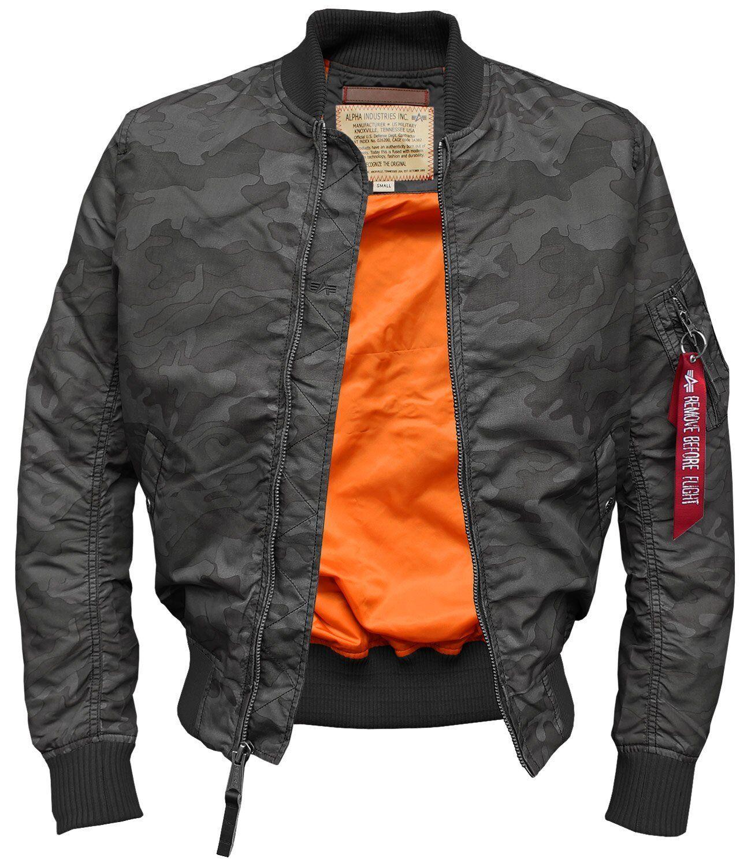 Alpha Industries B3 FL Herren Fake Lederjacke Leder Jacke