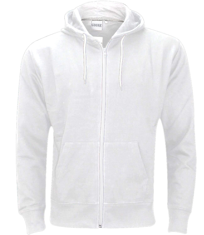New Mens Boys Zip Up Hoodie American Zipper Sweatshirt Plain Hoodies All Sizes