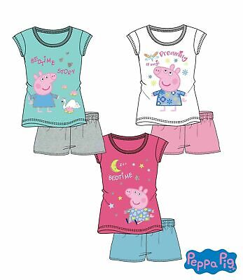 Peppa Wutz Schlafanzug Shorty Pyjama Kinder Gr. 98-128 Neu - Shorty Kinder Pyjama