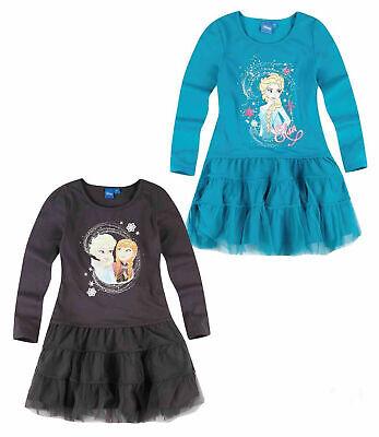 Disney Frozen Eiskönigin  Jersey Kleid Gr.104-140 Set - Disney Frozen Kleid