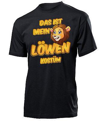 Karnevals- Faschingskostüm - DAS IST MEIN LÖWEN KOSTÜM T-Shirt Herren S-XXL