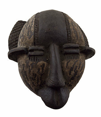 Mask Diminutive African Passport Miniature Divination Terracotta 6474 Q1