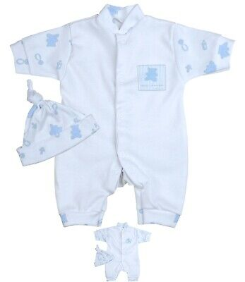 BabyPrem Micro Preemie Baby Boys Clothes Romper & Knotted Ha
