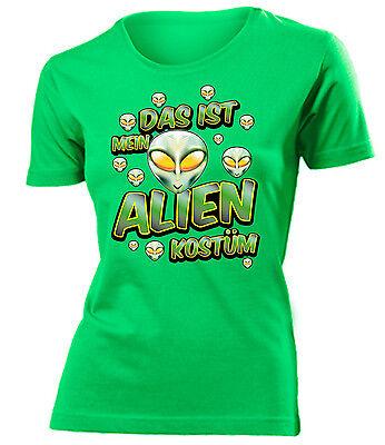 OSTÜM T-Shirt Damen S-XXL (Damen Alien Kostüm)