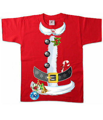 Kinder T-Shirt - Weihnachten Santa Claus Kostüm Merry Christmas - Santa Claus Kostüm Kind