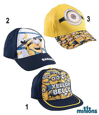 Disney Minion Minions Cap Basecap Kappe Mütze Kopfbedeckung Größe 52 - 54 NEU