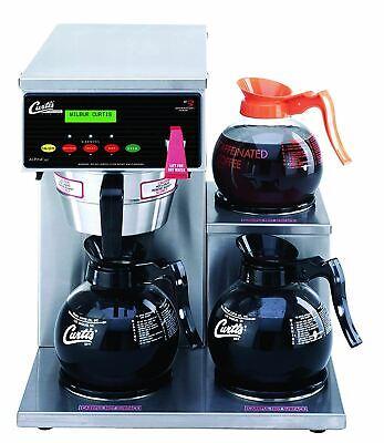 Wilbur Curtis G3 Alpha Decanter Brewer 64 Oz Coffee Brewer 3 Station Alp3gtr12a0