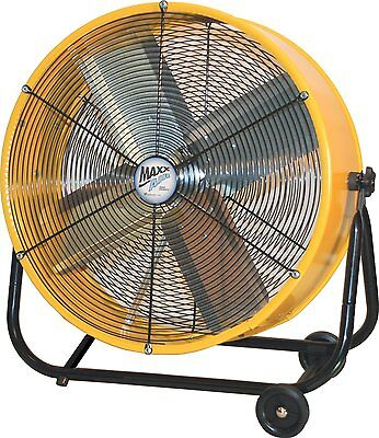 Drum Fan Heavy Duty Rolling Factory Floor Shade Garage Barn Commercial With CFM