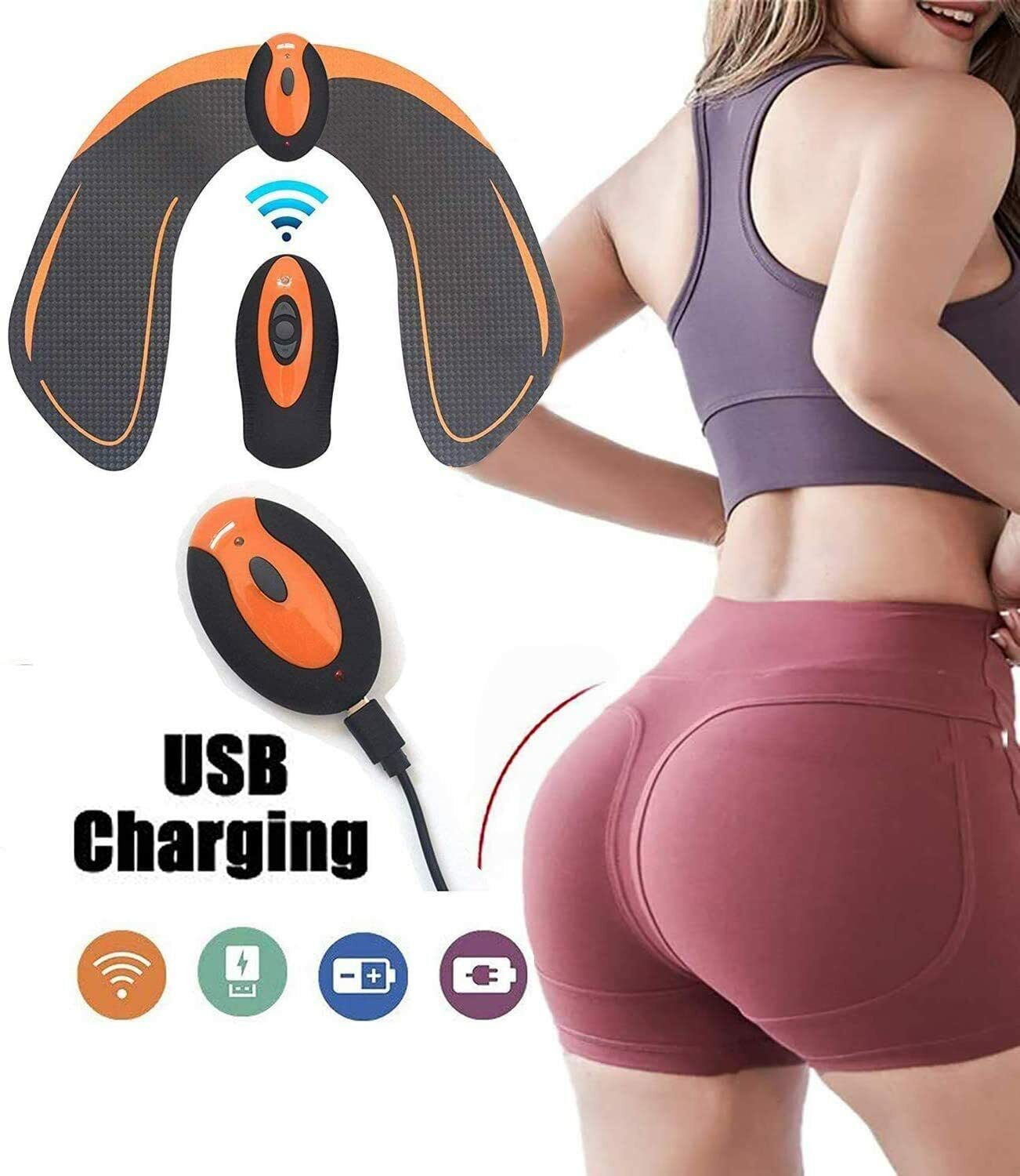 USB Recharge Abs Stimulator Hip Trainer Electronic Backside