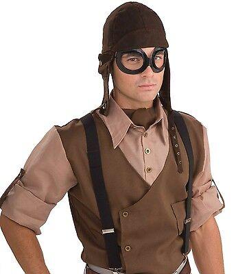 Erwachsene Steampunk Krieg Piloten Aviator Kostüm Kleid Outfit Zubehör Set