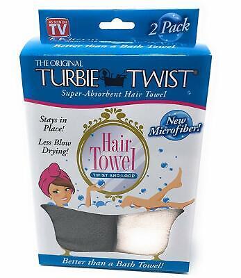 Turbie Twist Microfiber Hair Towel 2 Pack Grey and Light Pink
