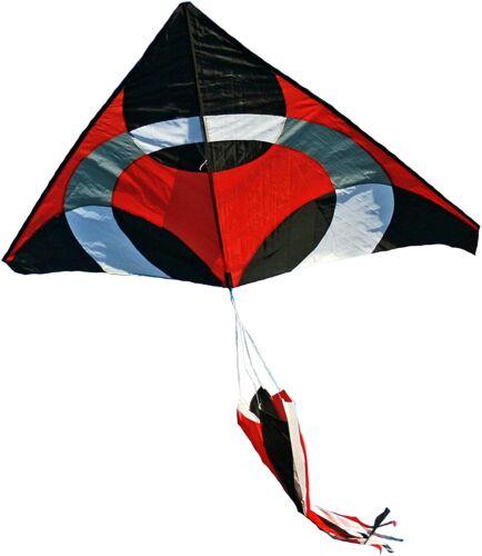 Ring Kite (RED) 6.5x8 ft giant delta easy flyer kite kites includes windsock