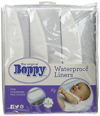 Boppy Changing Pad Liners, White, 3 Count