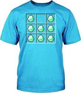 Minecraft-Camiseta-Mina-CRAFT-DIAMANTE-Official-Mineria-Camisa-7-8-anos