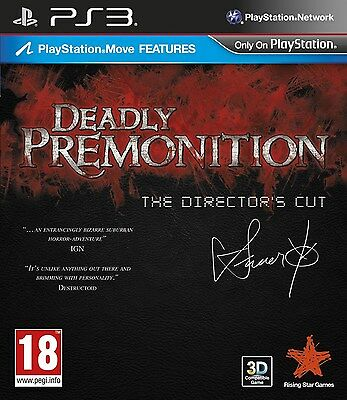Deadly Premonition: The Director's Cut [PlayStation 3 PS3, Region Free, Swery65]