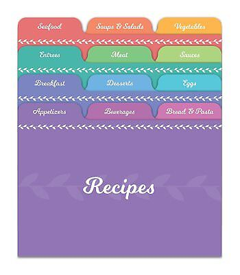 Jot & Mark Recipe Card Dividers | 24 Tabs, for 4x6 Cards to Organize Recipe Box