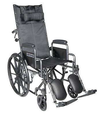 Reclining Back Wheelchair (DRIVE MEDICAL SILVER SPORT RECLINING HIGH BACK WHEELCHAIR WITH DETACHABLE ARMS )