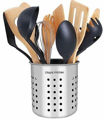Kitchen Utensil Holder Container Cock Flatware Caddy Stainle