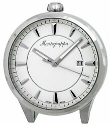 Montegrappa Fortuna White Dial Stainless Steel Quartz Desk Clock IDFOTCIW