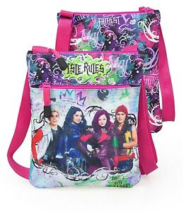 Disney Descendants Shoulder Bag Mal Messenger Tote Girls Kids School Violet
