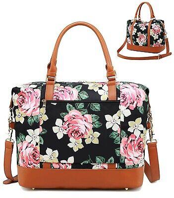 Weekender Overnight Bag Women Water-resistant Carry-on Duffel Shoulder Tote Bags (Women Carry Water)