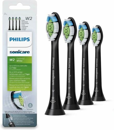 GENUINE Philips Sonicare HX6064 Diamond Clean Brush Heads (4-Pack) - Black