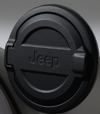 2018 JEEP Wrangler JL Fuel Filler Door 82215123 BLACK SATIN MOPAR OEM